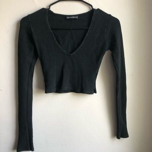 Brandy Melville Cropped Black Long Sleeve